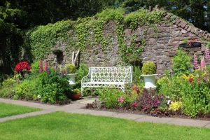 Meditation garden in Glenstal Abbey