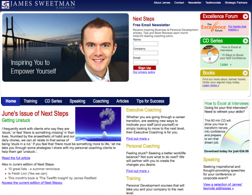 Website screenshot 2008