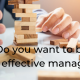 Effective managers