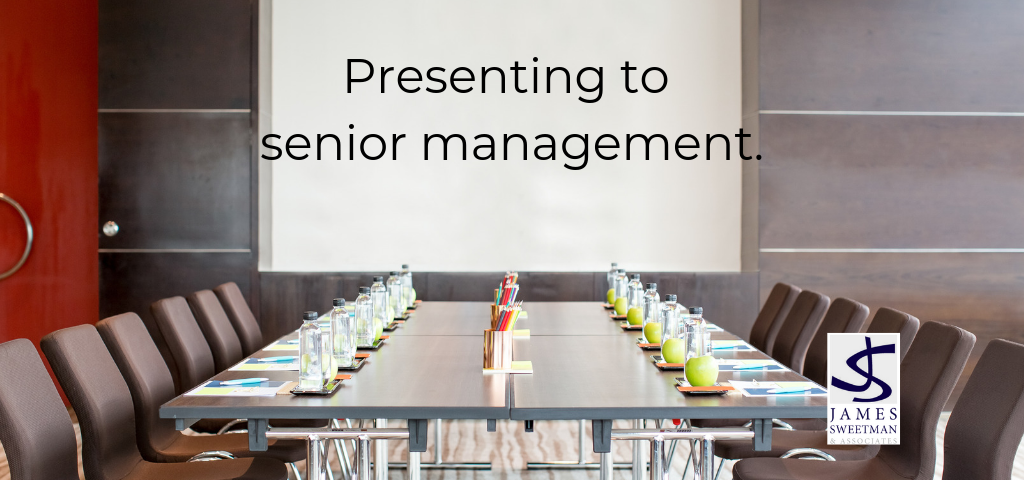 How to present to senior management