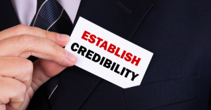 online presentation. Establish credibility