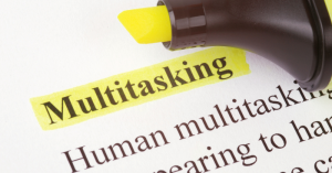 Make working from home work for you. Multitasking