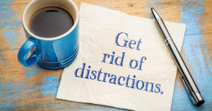 Make working from home work for you . Fewer distractions
